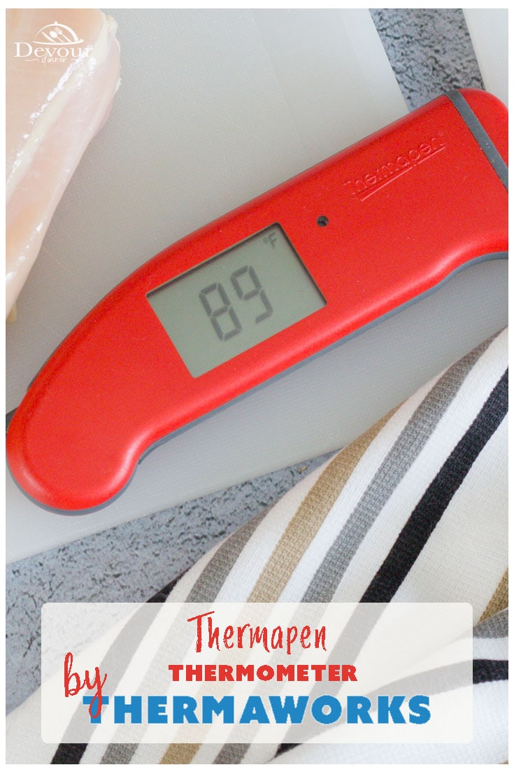 Thermapen, the Rolls Royce of Digital Thermometers that stays consistent use after use. You will have the perfect recipe results using a Thermapen MK4. Using a Thermapen MK4 when grilling, baking, making candy or just testing temperatures of your food is ideal in achieving consistent results time after time. That is why I depend on using the Thermaworks MK4 digital Thermometer. #devourdinner #digitalthermometer #thermaworks #thermapen #thermapenmk4