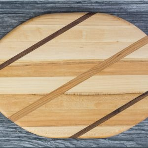 Cutting Board with Walnut and Cherry Wood inlaid