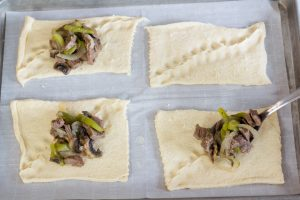 Philly Cheesesteak on Crescent dough