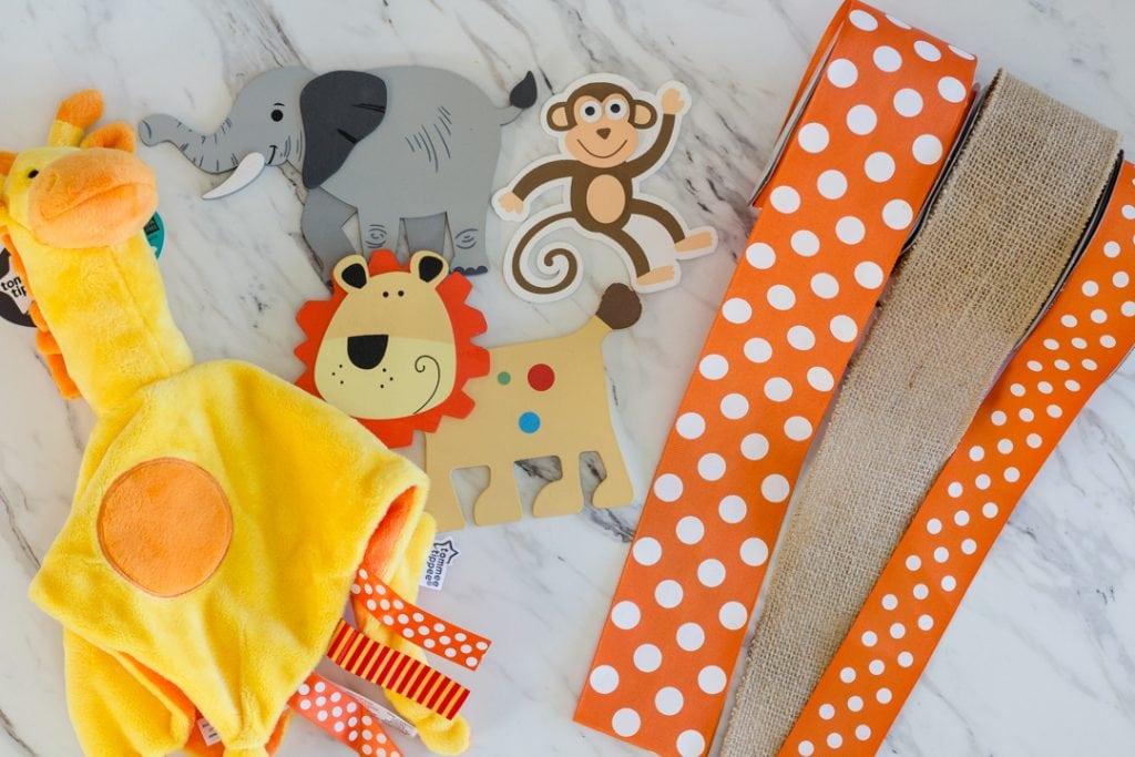 Safari Diaper Cake Supplies