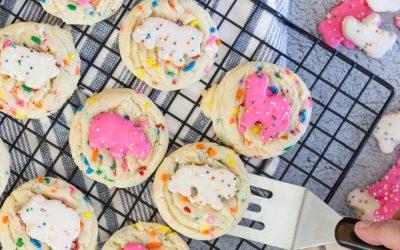 Easy to make Circus Animal Sugar Cookies