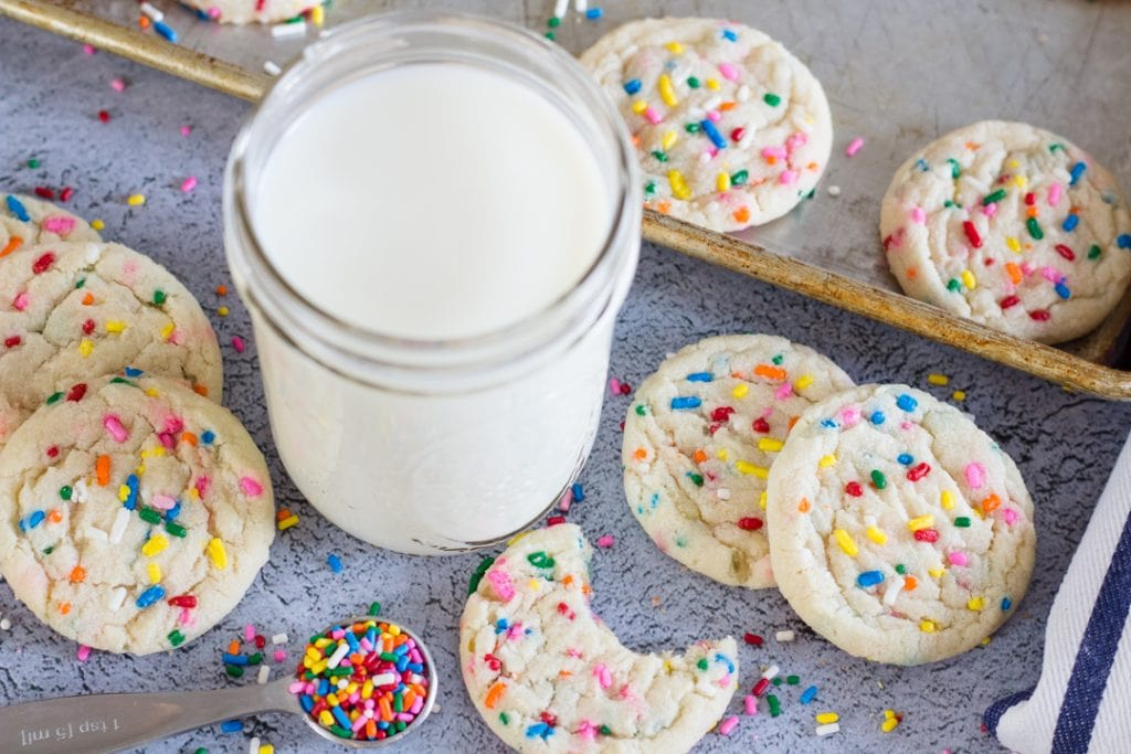 Funfetti Cookies with Milk