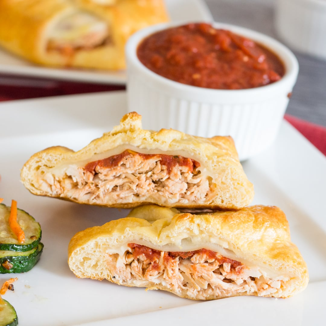 Easy Baked Chicken Parmesan Crescent Rolls