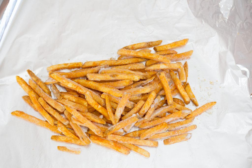 French Fries on Tin Foil