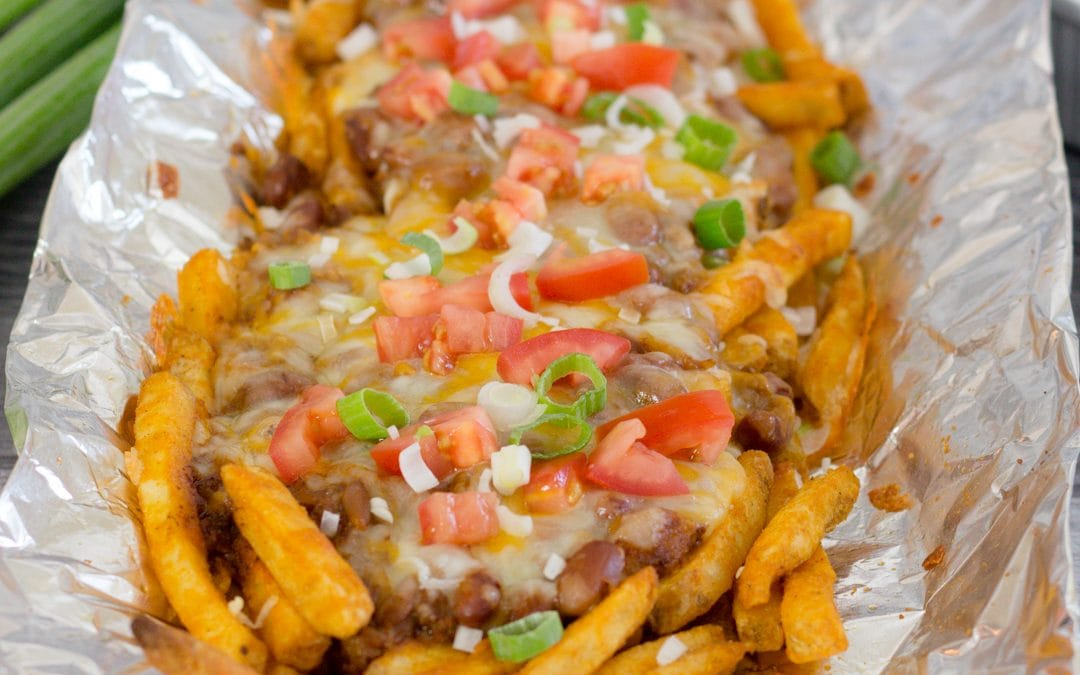 Easy Baked or Grilled Tin Foil Chili Cheese Fries