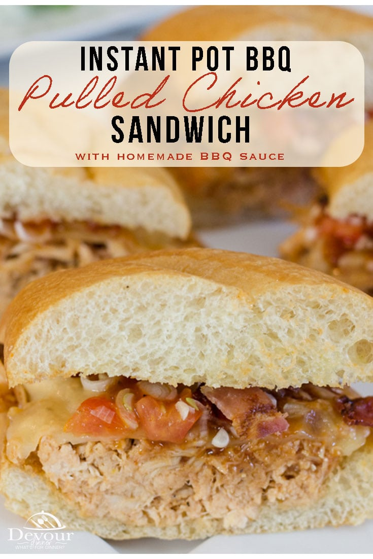 If you think all Pulled Chicken Sandwiches are the same, then we need to talk. Making a Pulled BBQ Chicken Sandwich is easy enough and taking the same sandwich to the next level will heighten your taste buds to gold medal status. Delicious Homemade BBQ Sauce with juicy pulled chicken on a toasted bun. It's an easy Instant Pot Recipe. #devourdinner #devourpower #familyrecipes #easyrecipe #easydinner #easydinnerrecipe #recipe #recipes #food #foodie #Iammartha #recipeoftheday #foodiefriday
