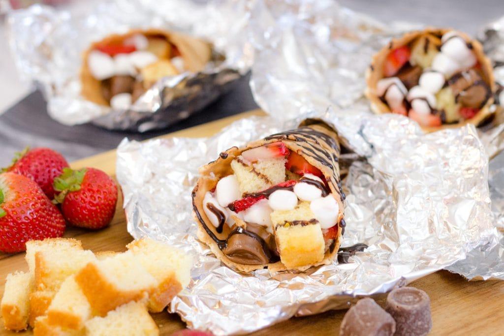 Waffle Fruit Cones