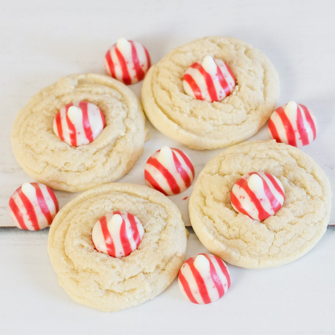 Holiday Fun Peppermint Kiss Cookies