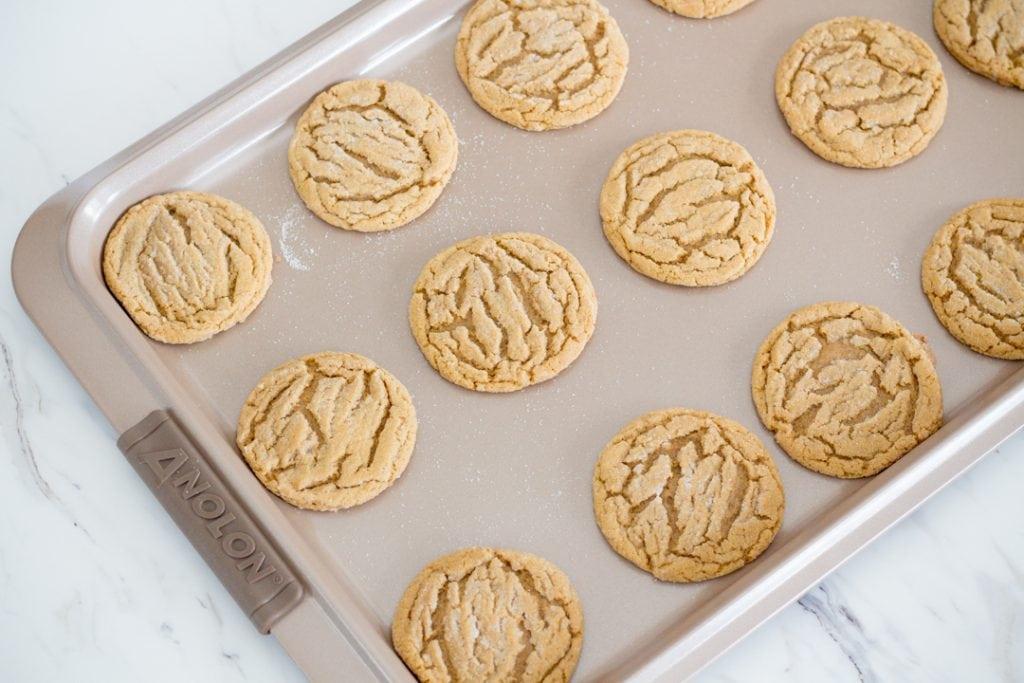 Gingersnap Cookies on baking sheet
