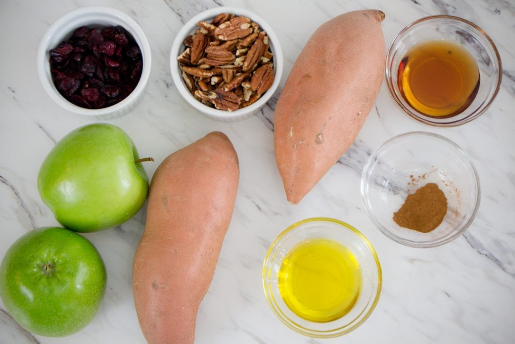 Sweet Potato and Apples Ingredients