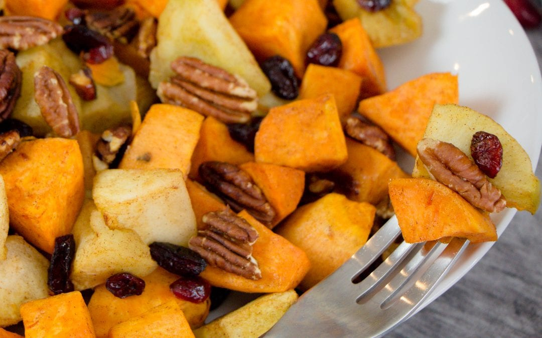 How to Roast Sweet Potato and Apples