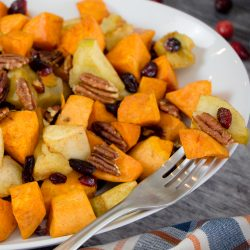 Roasted Sweet Potatoes and Apple