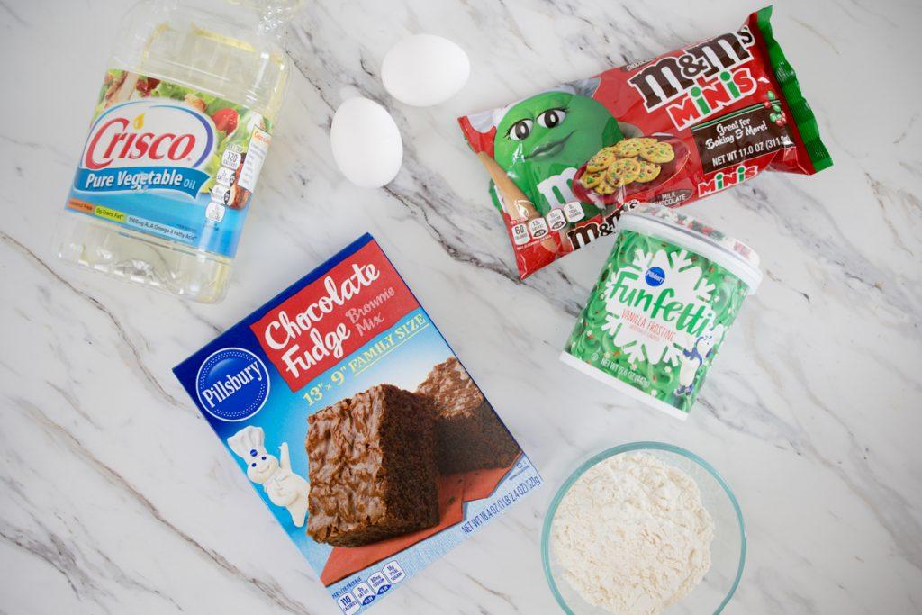 Ingredients for Holiday Brownie Cookies