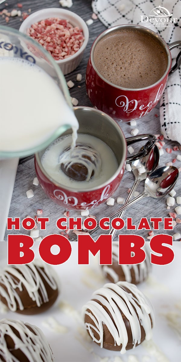 The PERFECT Cup of Hot Cocoa made w/ a Hot Chocolate Bomb. Easy to make and lots of fun to enjoy using circle Silicone Mold, Egg Bite Molds, Silicone Ice Cube or even Silicone muffin liners. Easy to make and wonderful to enjoy. #devourdinner #devourpower #hotchocolate #hotchocolatebomb #hotcocoabomb #easyrecipe #dessertrecipe #familyrecipe #Hococoabomb #howtomakeHotChocolateBomb