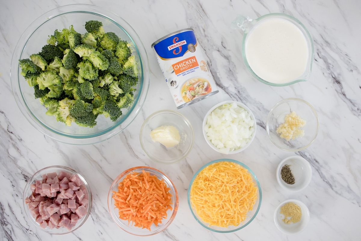 Cheddar Broccoli Soup Ingredients