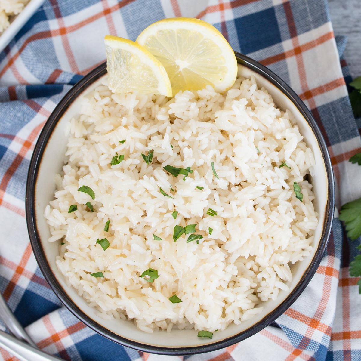 Instant Pot Lemon Rice Pilaf Recipe
