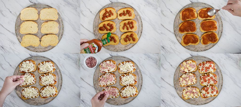 Step by Step Directions Texas Toast Pizza