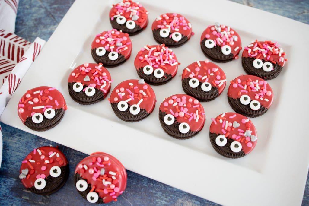 Love Bug Dipped Oreo Cookies