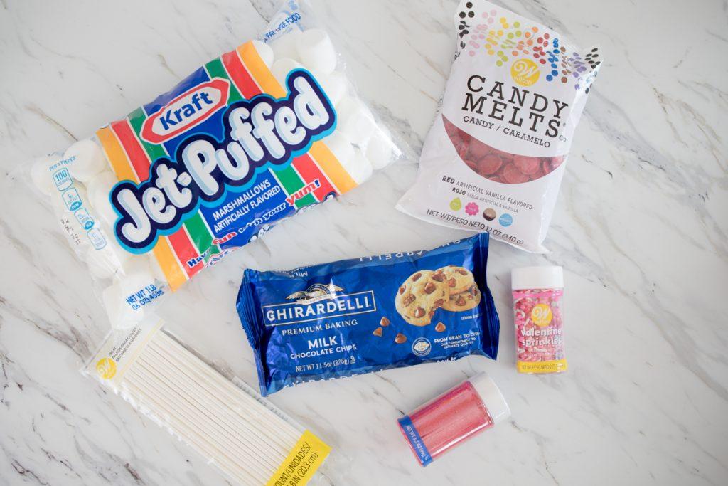 Valentine Marshmallow Pop Ingredients