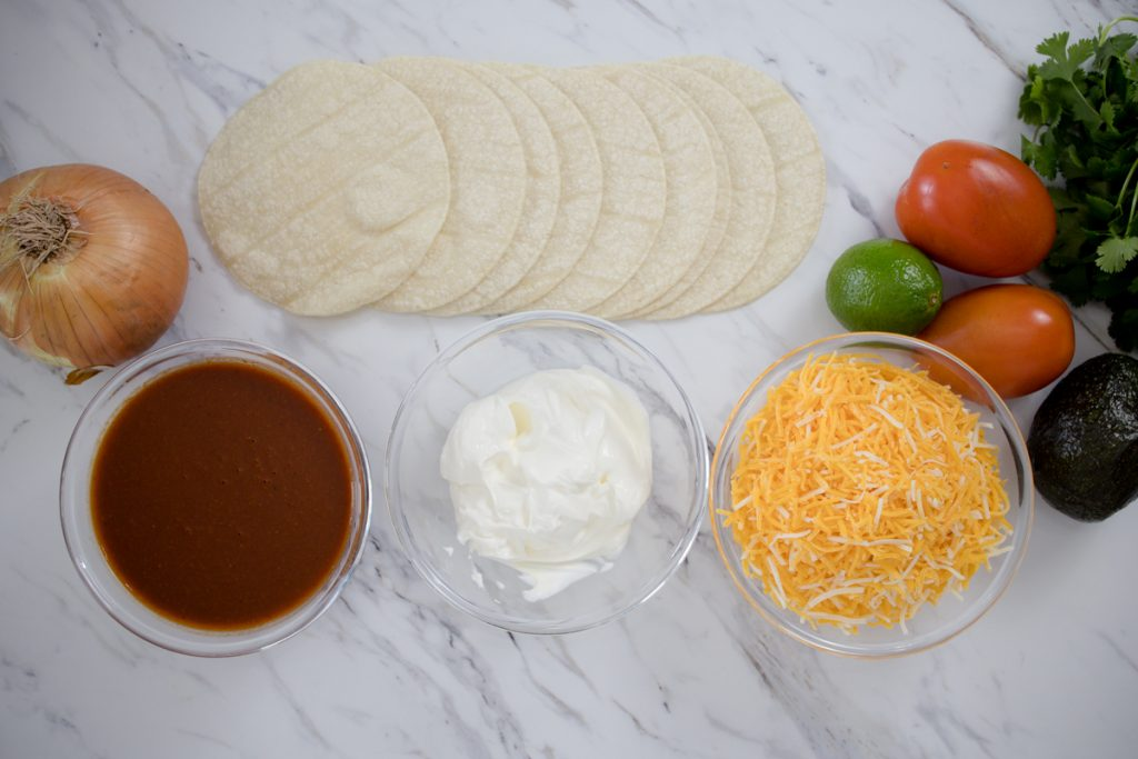 Cheese Enchiladas Ingredients