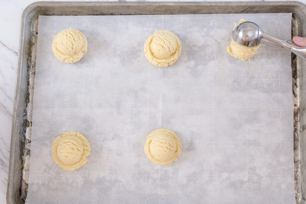 Sugar Cookies on Cookie Sheet