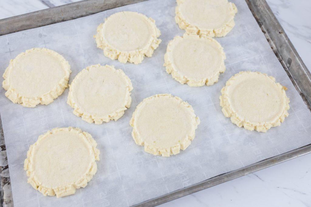 Swig Cookies on baking sheet