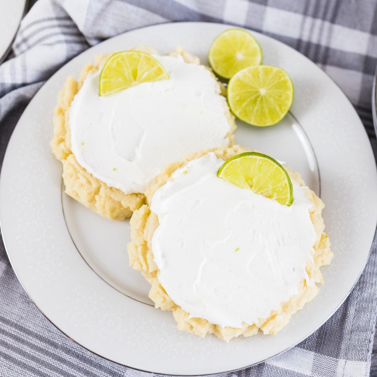 Coconut Lime Swig Cookies #SpringSweetsWeek