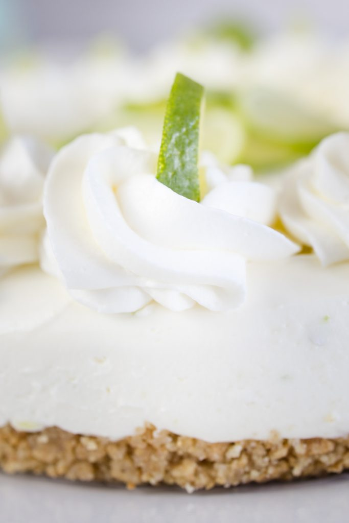 Whipping Cream and Lime Garnish