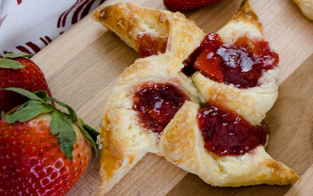 Rhubarb Cream Cheese Danish #SpringSweetsWeek