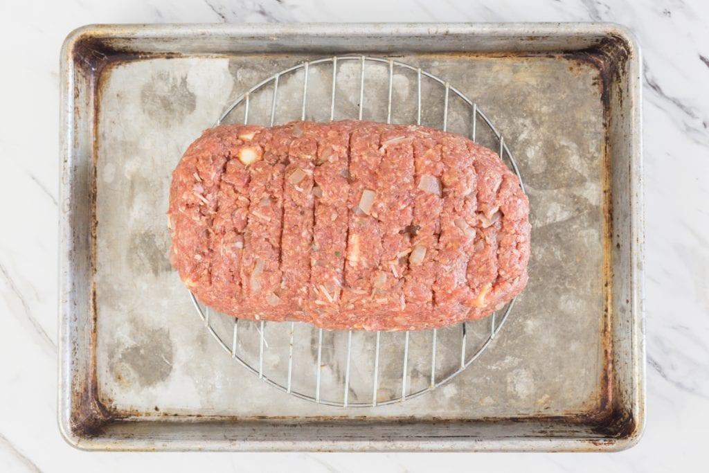 Meatloaf on pan