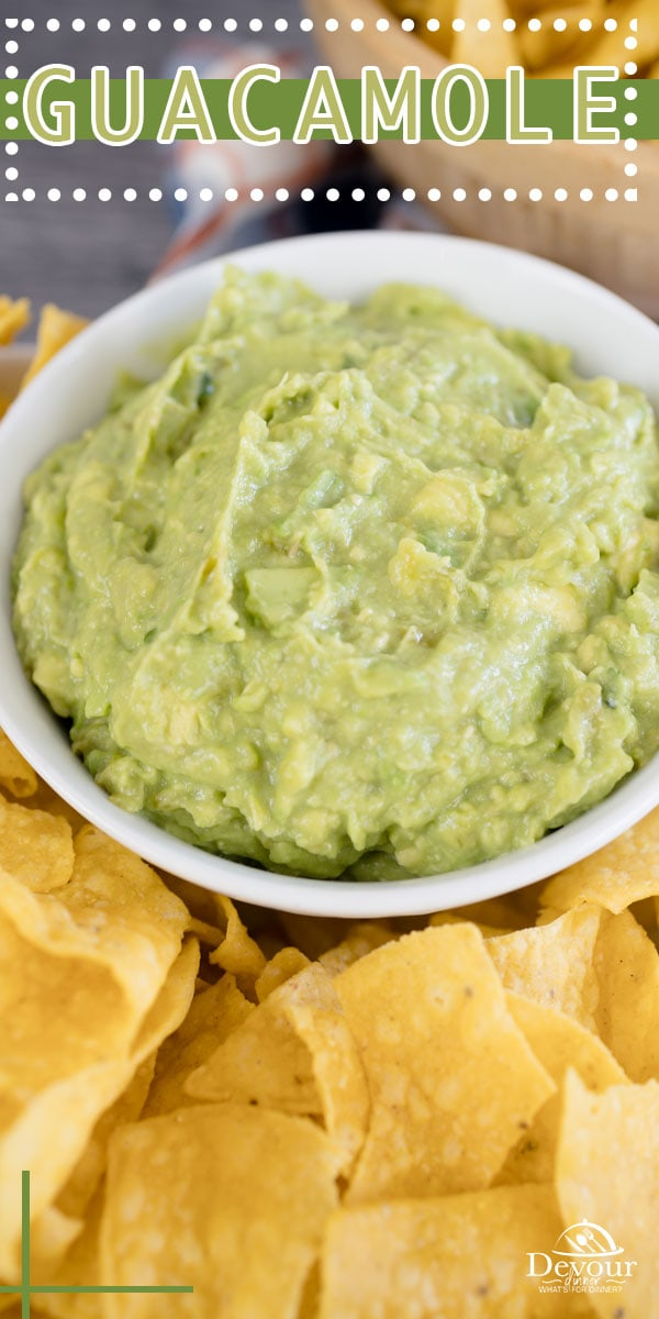 Making Homemade Guacamole using Fresh Ingredients is the BEST and an easy recipe to follow. Serve as a dip with chips or as a spread. Made with roasted tomatillos, garlic, onion and peppers or use your favorite Green Salsa. Spice up or down and make how you love. #devourdinner #devourpower #easyrecipe #familyrecipe #guacamole #homemadeguacamole #cincodemayo #tacotuesday #iammartha #recipeoftheday #foodiefriday #appetizerrecipe #easyguacamole #bestguacamole #yum #yummy #foodie #foodrecipe