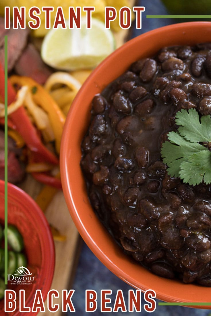 This No-Soak Bean recipe is true restaurant quality that you will want to share with those you love. And I'm going to help you make them too! Easy step-by-step instructions that even an inexperienced cook can create at home. #devourdinner #devourpower #instantpotblackbeans #blackbeansrecipe #nosoakbeans #easyrecipe #familyrecipe #cincodemayo #beans #sidedish #instantpot #instantpotrecipe #iammartha #familyrecipes #pinchofyum #pressurecooking #foodiefriday #recipeoftheday #yum #yummy