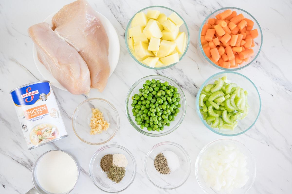 Ingredients for Instant Pot Chicken Pot Pie