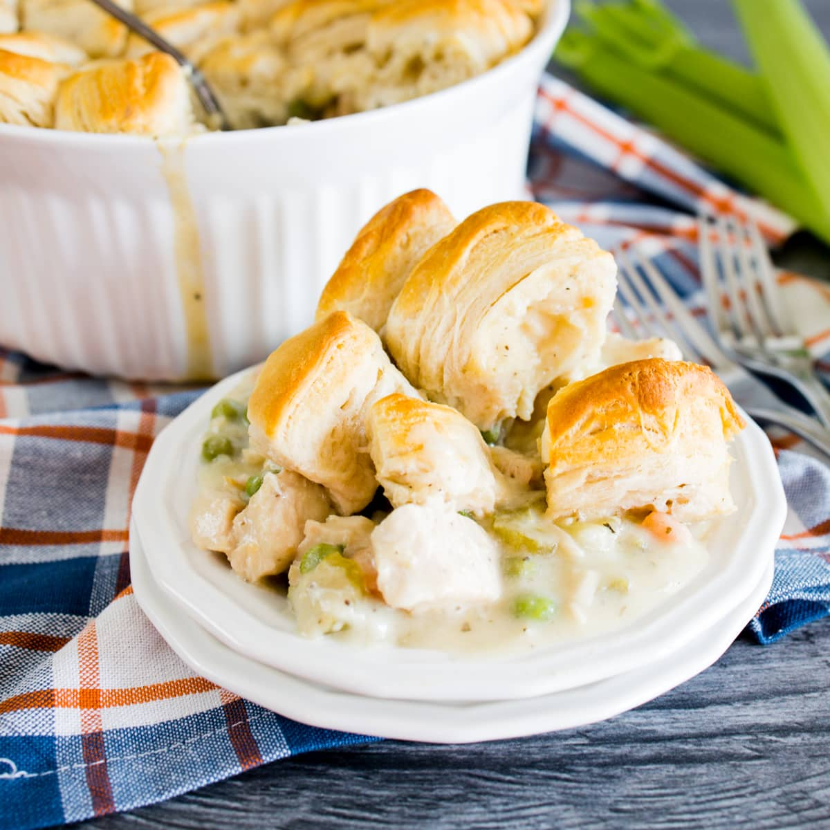 Delicious Instant Pot Chicken Pot Pie with Biscuits