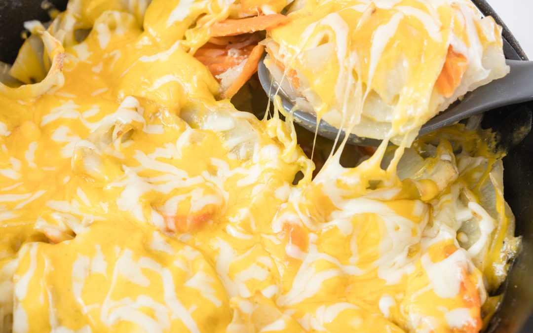 Dutch Oven Potatoes with Cheese