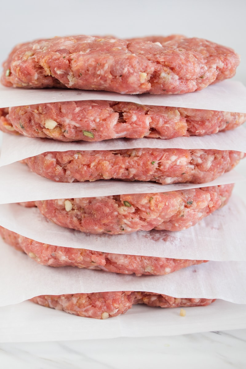 Hamburger Patties with Parchment Paper