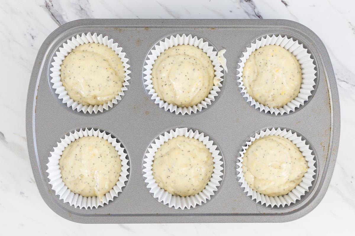 Lemon Poppy Seed in baking tin
