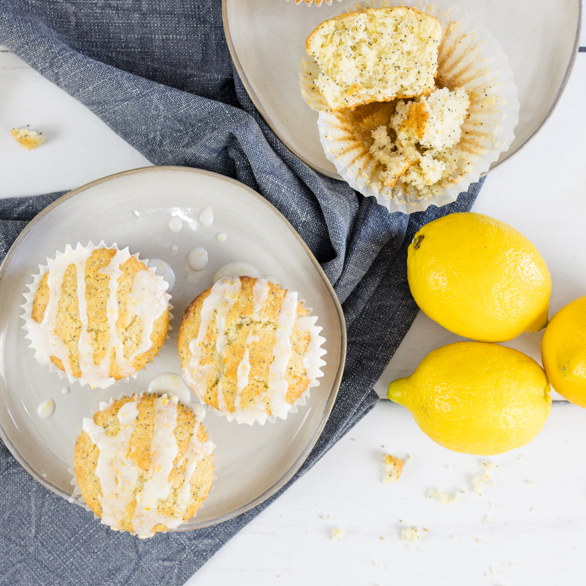 Zesty Lemon Poppy Seed Muffins
