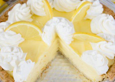 Zesty Lemon Sour Cream Pie