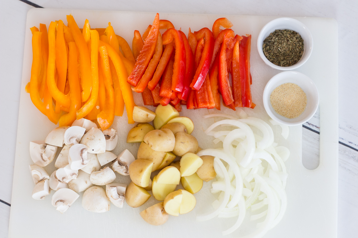 Sausage and Peppers Ingredients