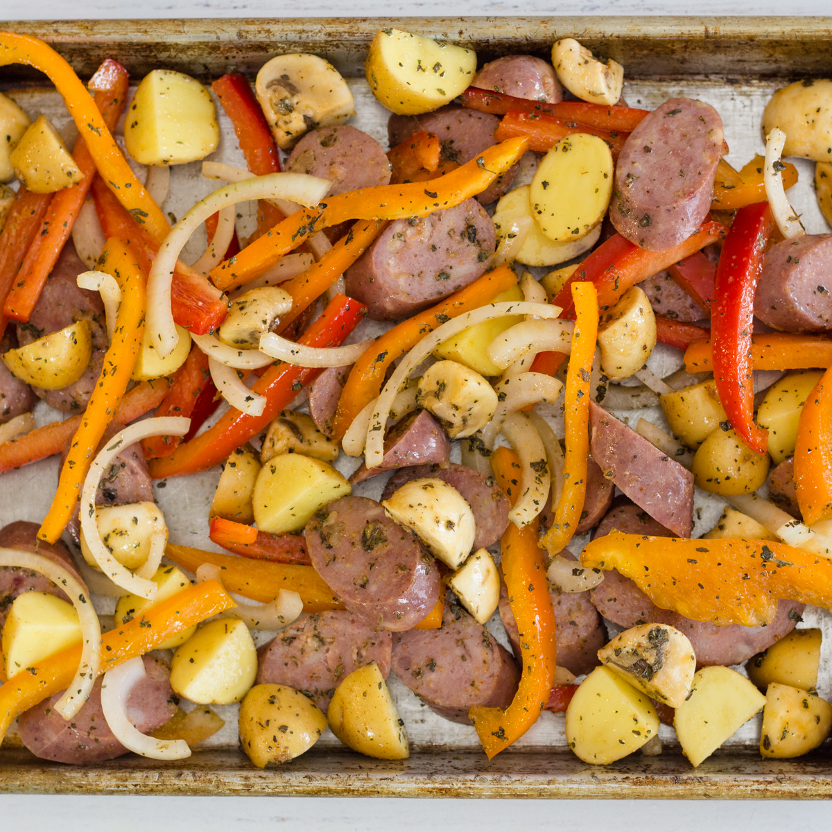 Sausage and Peppers a Tin Foil Meal