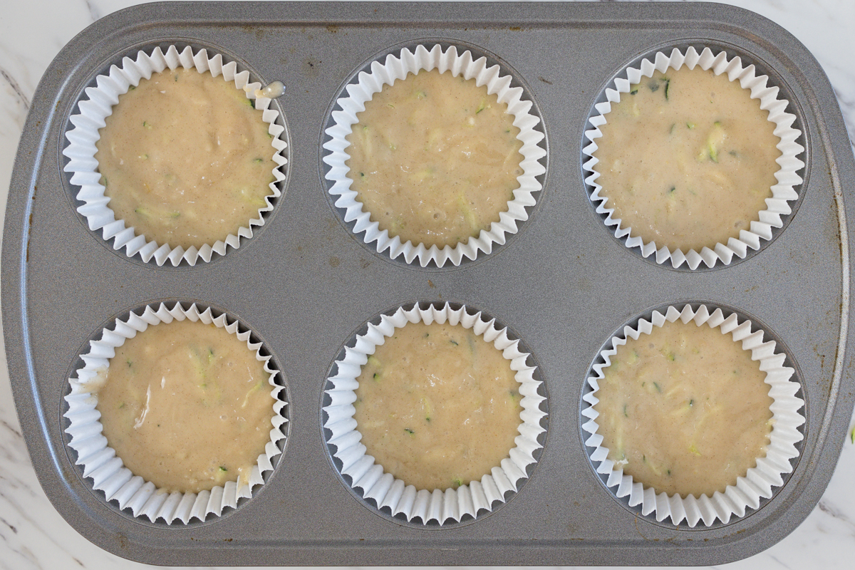 Zucchini Muffins in Muffin Tin