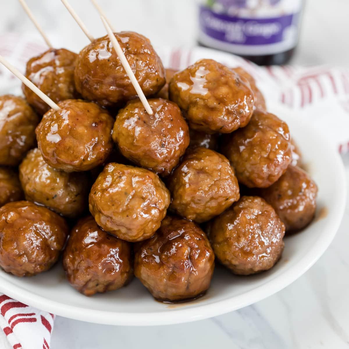 Delicious Grape Jelly Meatballs
