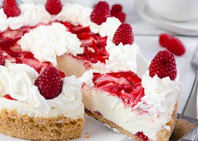 White Chocolate Raspberry No Bake Cheesecake #NationalCheesecakeDay!