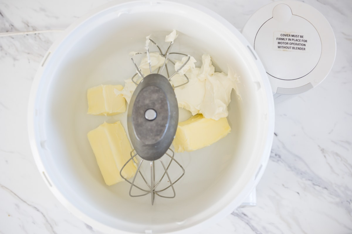 Bosch Mixer with Butter and Cream Cheese
