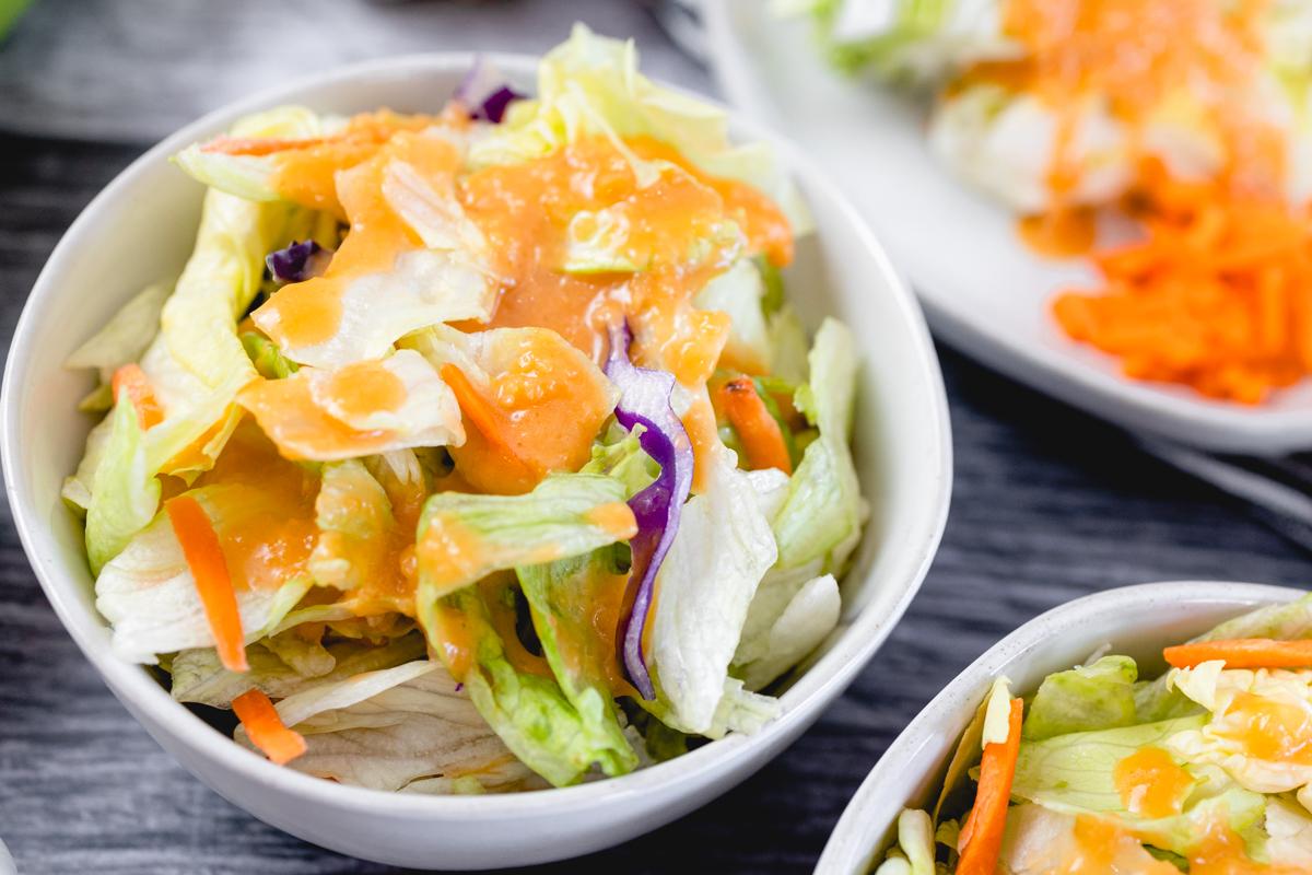 Ginger Salad Dressing in a bowl often called Japanese Dressing