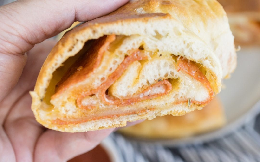 Fun and Easy Pepperoni Bread #freakyfriday