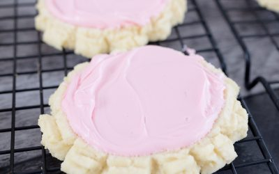 Classic Frosted Sugar Swig Cookies a Crumbl Copycat Recipe #summerdessertweek
