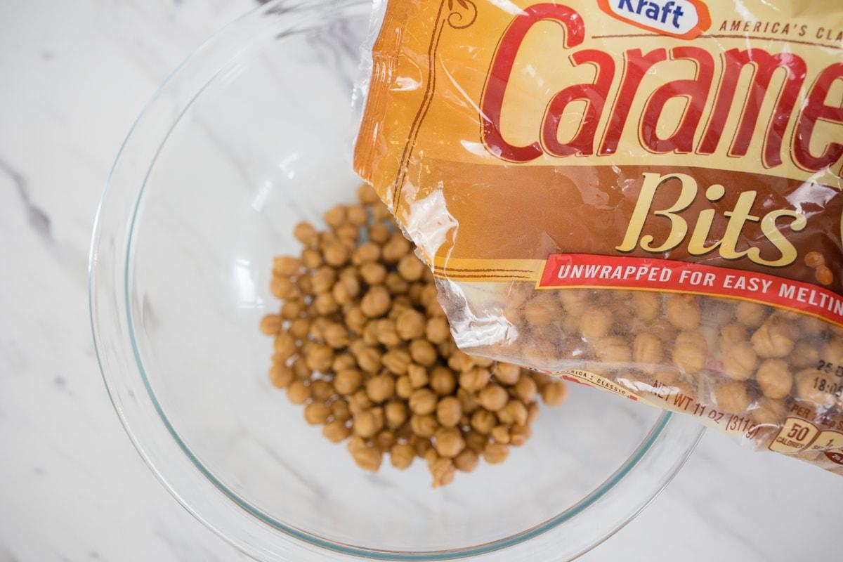 Caramel Bits in bowl
