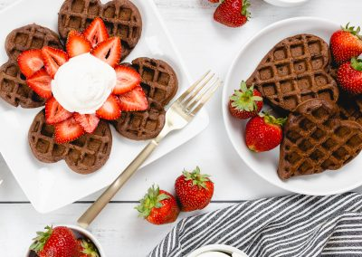 Chocolate Waffles for Breakfast?  Yes Please!
